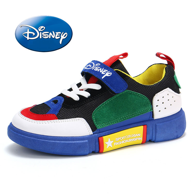 Disney 2019 Kids Running Shoes For Boys Fashion Breathable Sport Sneakers Boys School Shoes Spring Big Kids Shoes Size 26-37