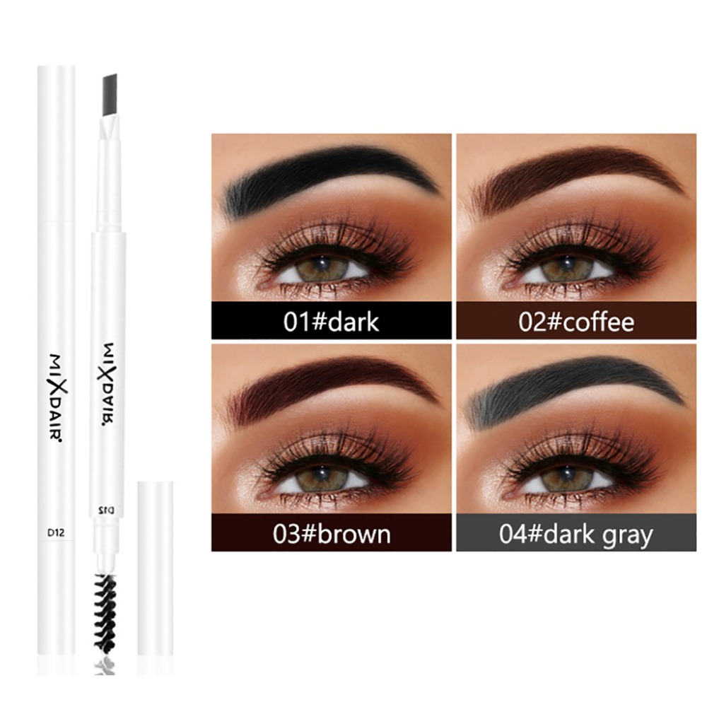 MIXDAIR dual ended eyebrow pencil with eyebrow brush fashion white apperance waterproof long lasting automatic eyebrow penMD007 1
