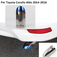 car cover muffler exterior end pipe dedicate stainless steel exhaust tip tail 1pcs For toyota Corolla Altis 2014 2015 2016