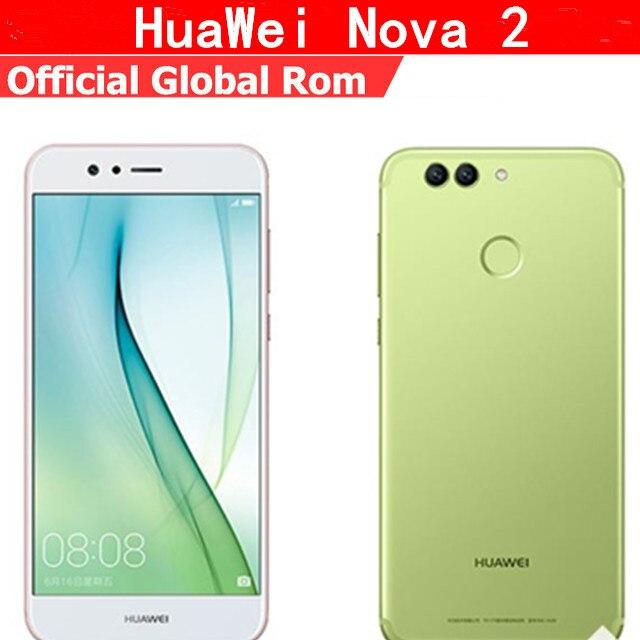 """Оригинальный HuaWei Nova 2 4G LTE мобильный телефон Kirin 659 Android 7,0 5,0 """"FHD 1920 X 4G 1080 B оперативная память 6 4G B Встроенная 20.0MP отпечатков пальцев"""