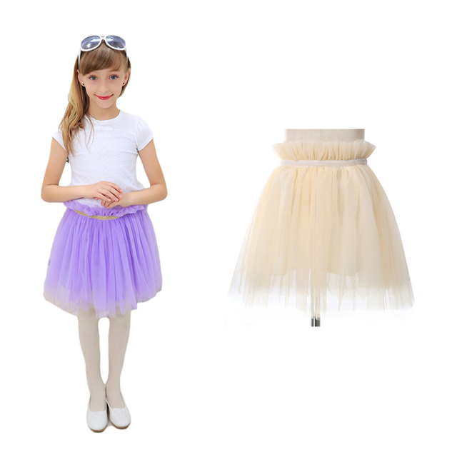 2015 New Fashion Tutu Skirt Baby Girls Ruched Knee-Length Princess Performance Party Pettiskirt