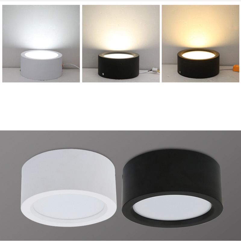 Surface Mounted 12W LED downlight 7W 9w Ceiling Lamps Ultra Thin Driverless cob led spot lights 220V Ceiling Fixtures Lighting