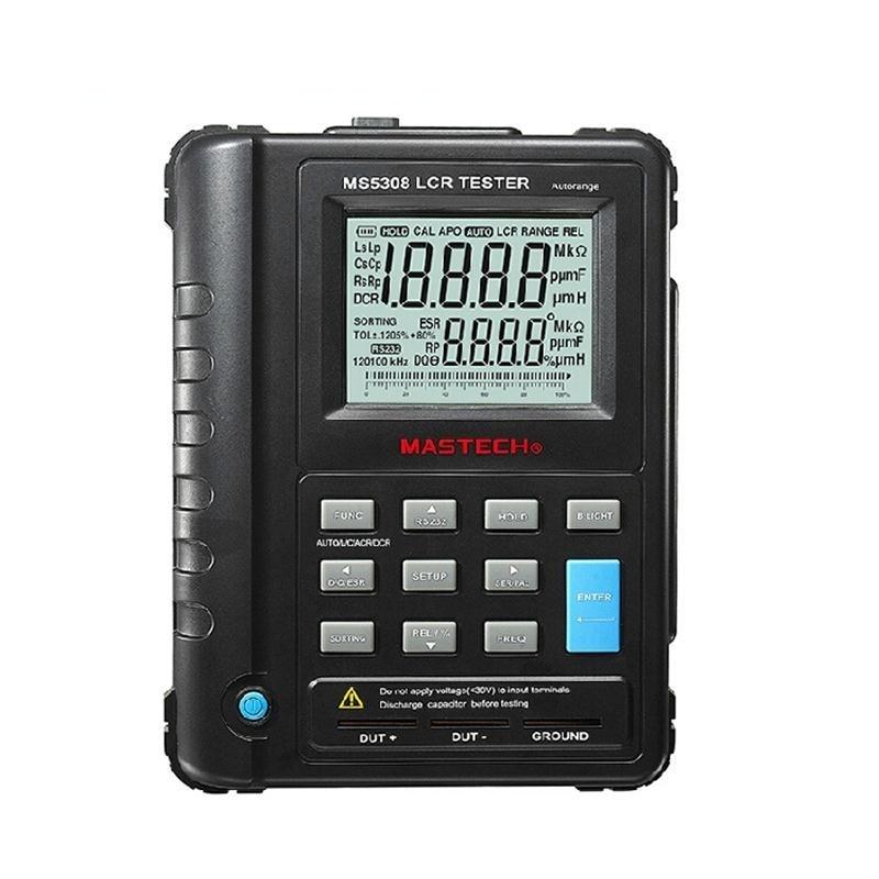 Mastech MS5308 LCR Meter Portable Handheld Auto Range LCR Meter High-Performance 100Khz lutron lcr 9083 digital lcr meter