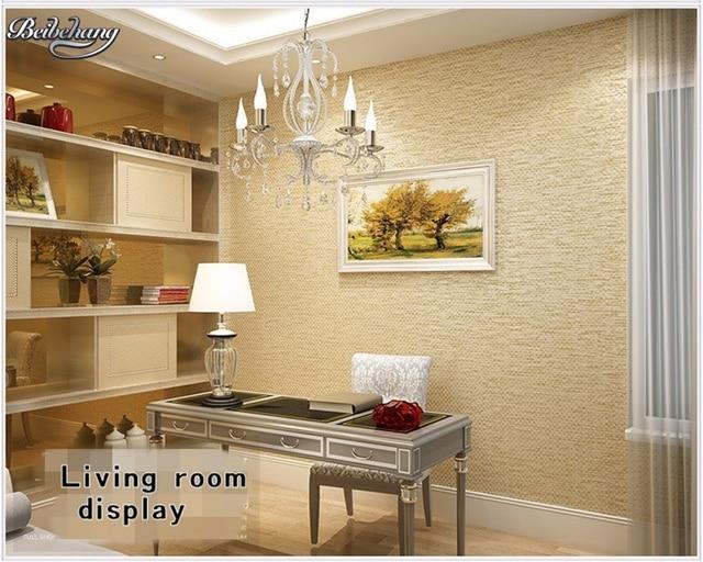 Beibehang Modern Pure Silk Vertical Striped Wall paper 3D Living ...