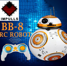 BB-8 Ball Star Wars RC Action Figure BB-8 star war rc Robot 2.4 G Remote Control Intelligent Robot  Model Kids Toy Gift FSWB star wars bb 8 rc robot star wars bb 8 2 4g remote control bb8 figure robot action robot sound intelligent toys car for children