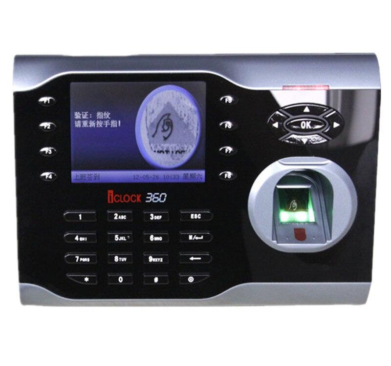 10000 Fingerprints High-Speed 3.5 Inch TFT  Fingerprint Time Attendance Terminal TCP/IP Fingerprint Time Recording ZK Iclock360