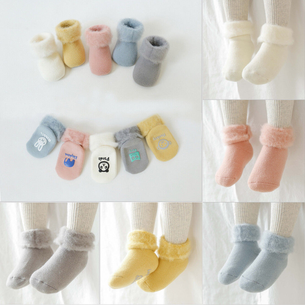 Socks Winter Baby Socks Boy Girl Socks Children Floor Socks Anti-slip Baby Step Socks Chaussette Enfant Cotton Baby Leg Warmers 3-24m Socks & Tights