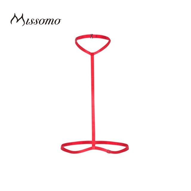 Missomo 2017, Новая мода женский, черный белого и синего цвета фиолетовый, красный пикантные спагетти регулируемый ремень нижнее белье одноцветное Цвет для лошади