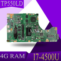 XinKaidi TP550LD Laptop motherboard for ASUS TP550LD TP550LA TP550L TP550 Test original mainboard DDR3L 4G RAM I7 4500U GT820M
