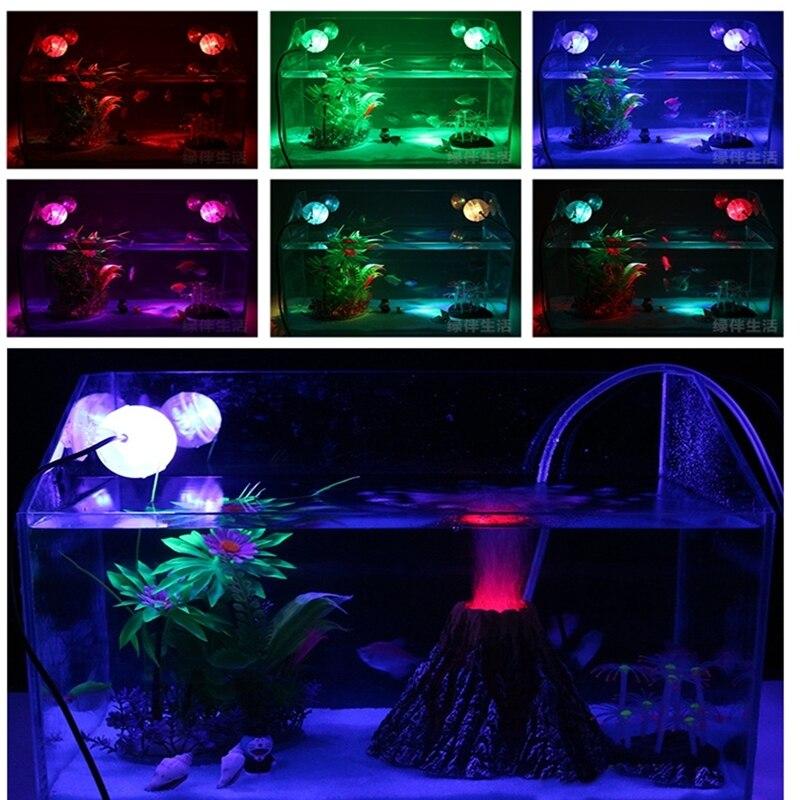 Aquarium Amphibious Submersible LED Spotlight colorful Lamp Waterproof Light Decoration background For Fish tank Ponds Pool - intl