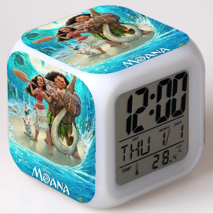 Children's Watches Cartoon Cute Moana Style Childrens Watches Kids Students Girls Quartz Leather Strap Wrist Watch Jc37