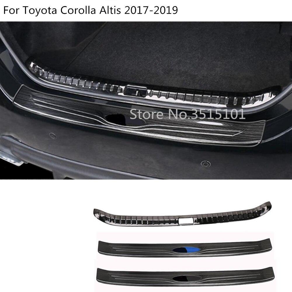 Voiture style extérieur extérieur arrière pare-chocs coffre garniture intérieure plaque intérieure pédale pour Toyota Corolla Altis 2017 2018 2019