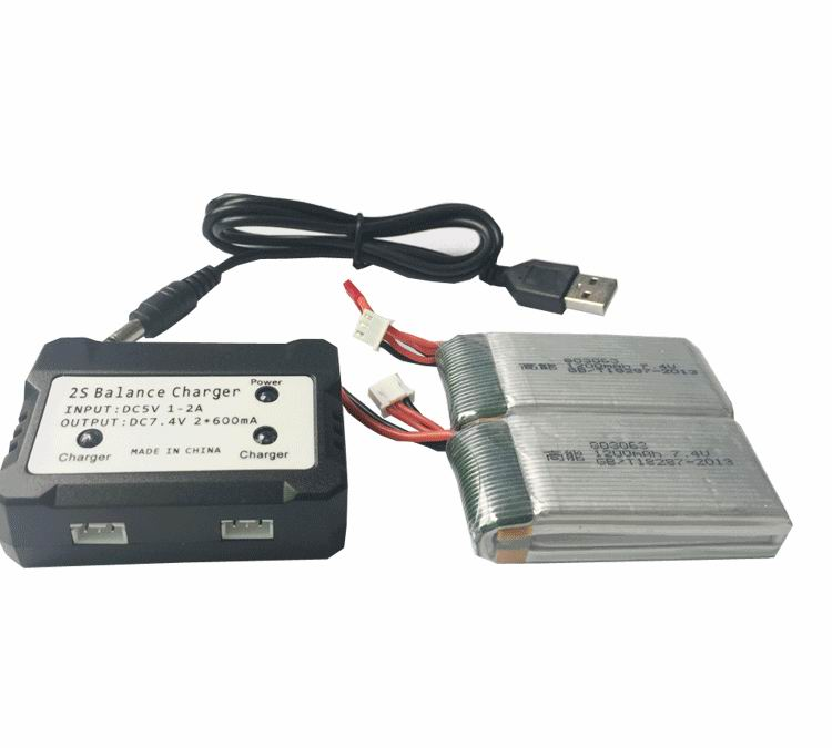Ewellsold 7.4V 1200mAh Li-polymer*2pcs + balancer charger for X101 X101 RC Quadcopter RC drone зарядное устройство duracell cef14 аккумуляторы 2 х aa2500 mah 2 х aaa850 mah