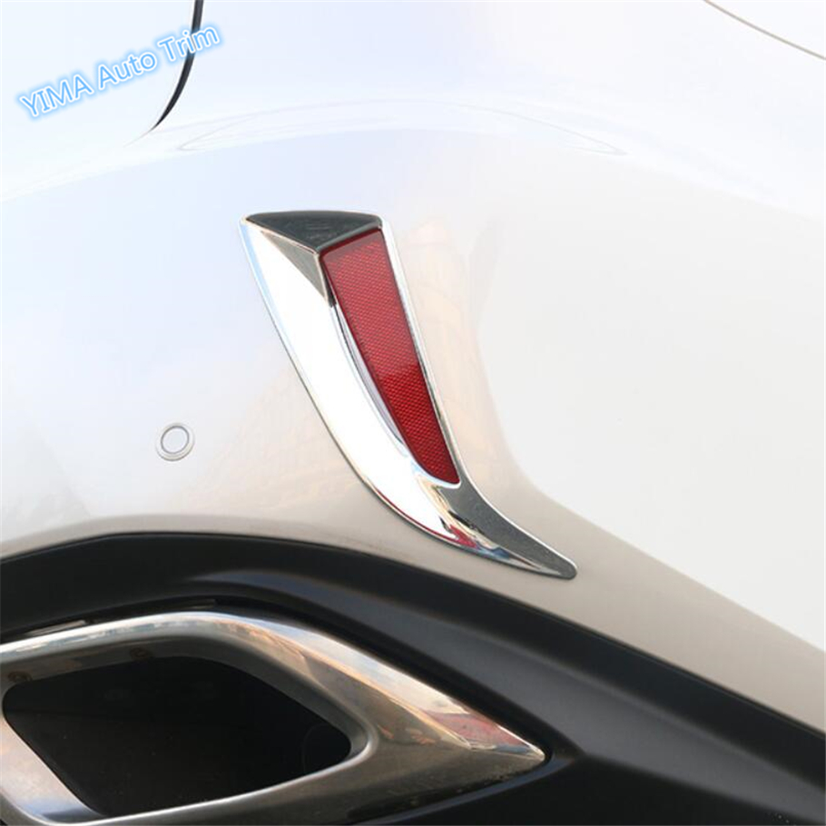 Lapetus Car Styling Exterior Fit For <font><b>Lexus</b></font> <font><b>RX</b></font> RX450h 2016 <font><b>2017</b></font> 2018 2019 2020 ABS Chrome Rear Tail Fog Lights Lamp Cover Trim image