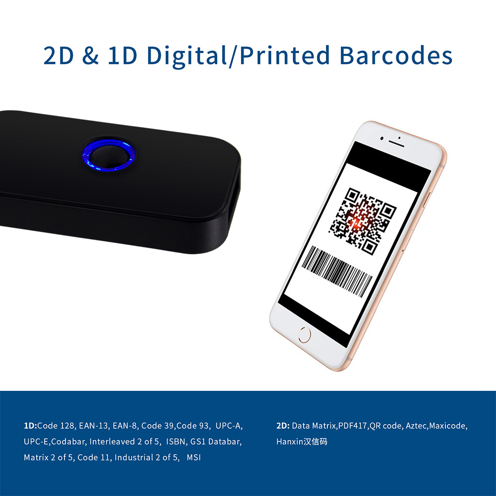Image 3 - 2D Barcode Scanner Bluetooth,Symcode 1D 2D Bluetooth Wireless Bar