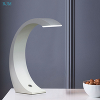 Nordic Simple Modern Creative Touch Led Small Desk Lamp Eye Protection White Reading Table Lamp Bedroom Bedside Work Study Lamp