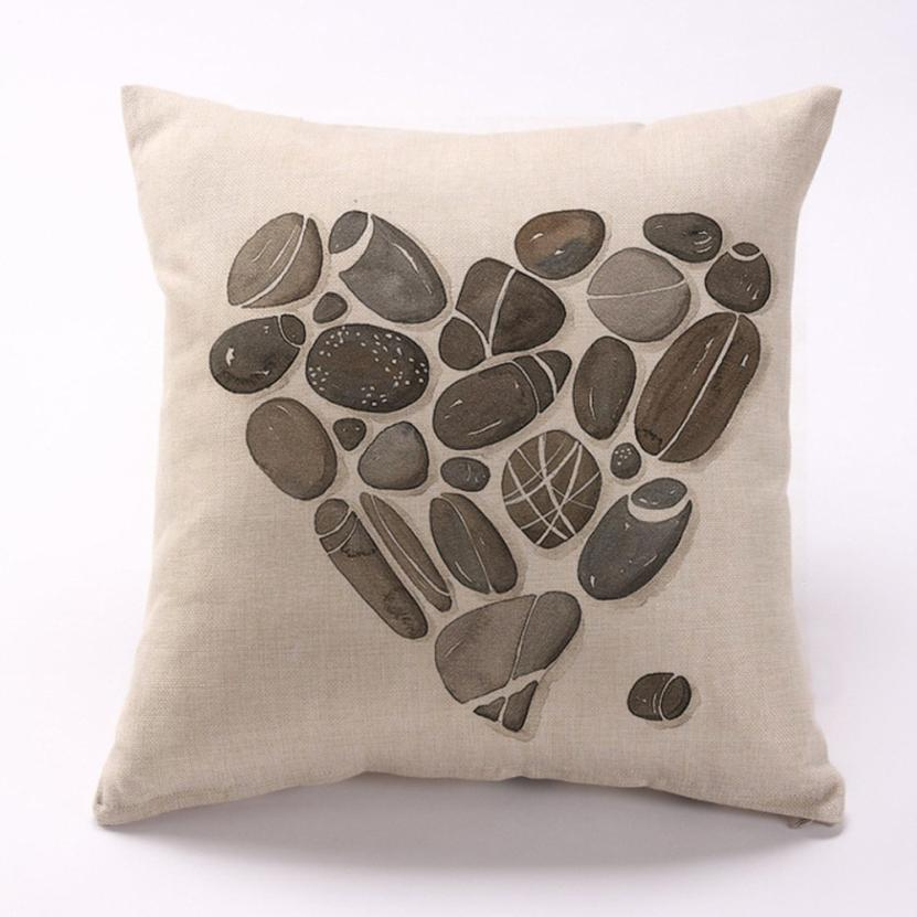 100% brand new and high quality Square linen blend Feather Sofa Bed Home Decoration Cushion Cojines Almofadas Infantil