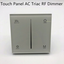 RF Remote controller DimmerLED AC 100-240V Input Dimmer 2.4g remote Touch Panel Triac Dimmer 1.5A S1-T LEDlight high powr dimmer