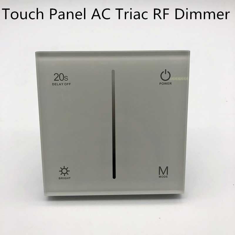 RF Remote controller DimmerLED AC 100 240V Input Dimmer 2.4g remote Touch Panel Triac Dimmer 1.5A S1 T LEDlight high powr dimmer