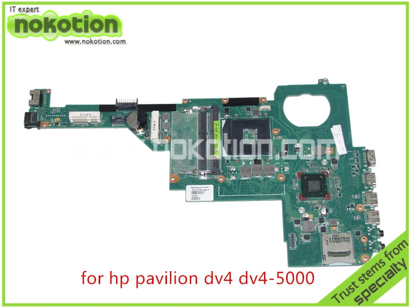 NOKOTION 676756-501 676756-001 for HP pavilion DV4 DV4-5000 Laptop motherboard intel HD4000 HD graphics DDR3 HM77 free shipping 676756 001 board for hp pavilion dv4 dv4t dv4 5000 series laptop motherboard with intel hm77 chipset