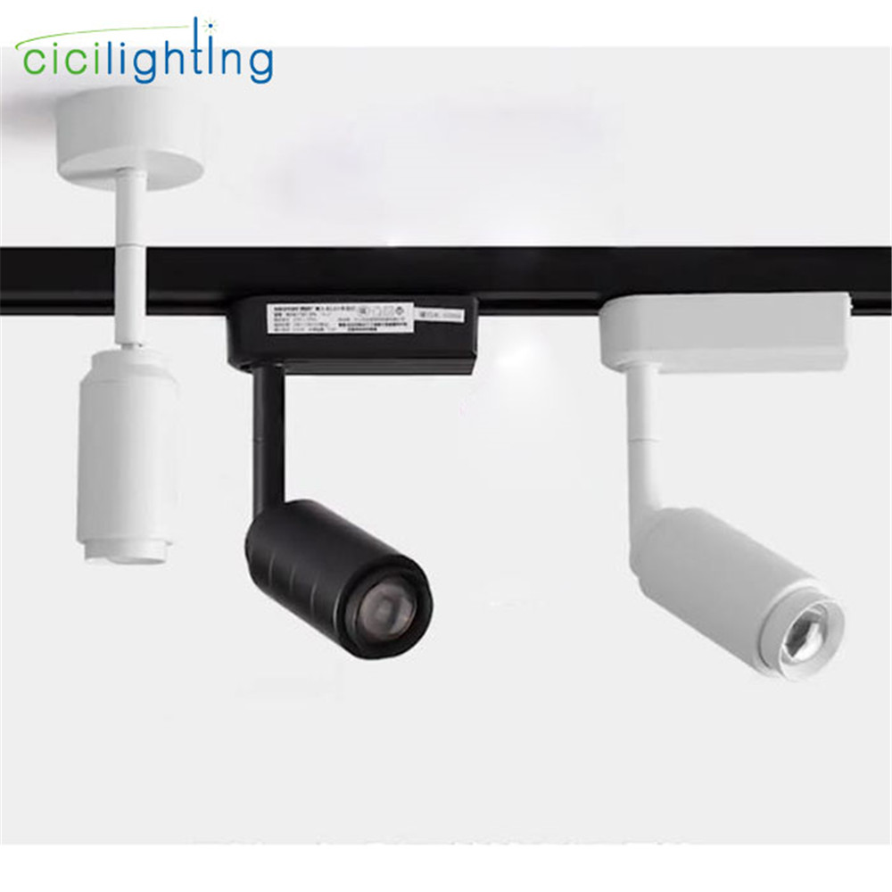 Modern Track Light Zoomable Adjustable Beam Angle Rail Lamp Spot Clothing Shoes Shop Zoom Exhibition Gallery Lamp COB Spotlights