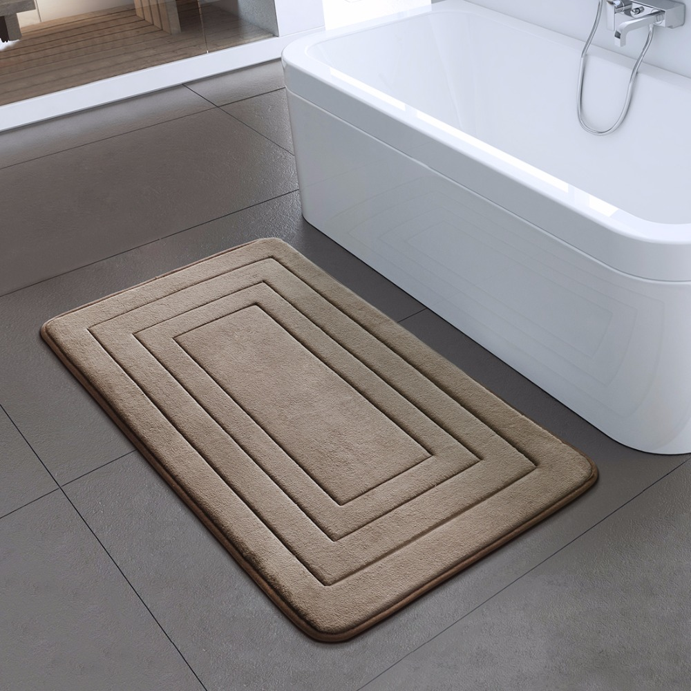 High Quality Bath Mat Bathroom Bedroom Non-slip Mats Foam Rug Shower Carpet for Bathroom Kitchen Bedroom 40x60cm 50x80cm ZA-003 3