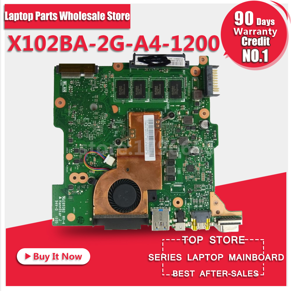 Laptop Motherboard For ASUS X102BA 2G-A4-1200 System Board Main Board Mainboard Card Logic Board Tested Well for asus x55vd laptop motherboard rev2 2 gt610m 2gb ram mainboard laptop motherboard system board logic board tested well