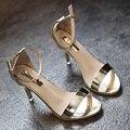 Mulheres Sandálias de Salto Alto Da Moda 2017 Mulheres Verão Sandálias Sapatos de Salto Das Senhoras
