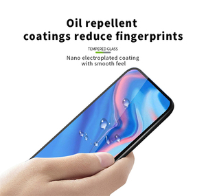 Image 2 - 2PCS Tempered Glass For Huawei Y9 Prime 2019 Glass Full Cover Glue 9H Screen Protector For Huawei Y9 Prime 2019 Phone Glass Flim
