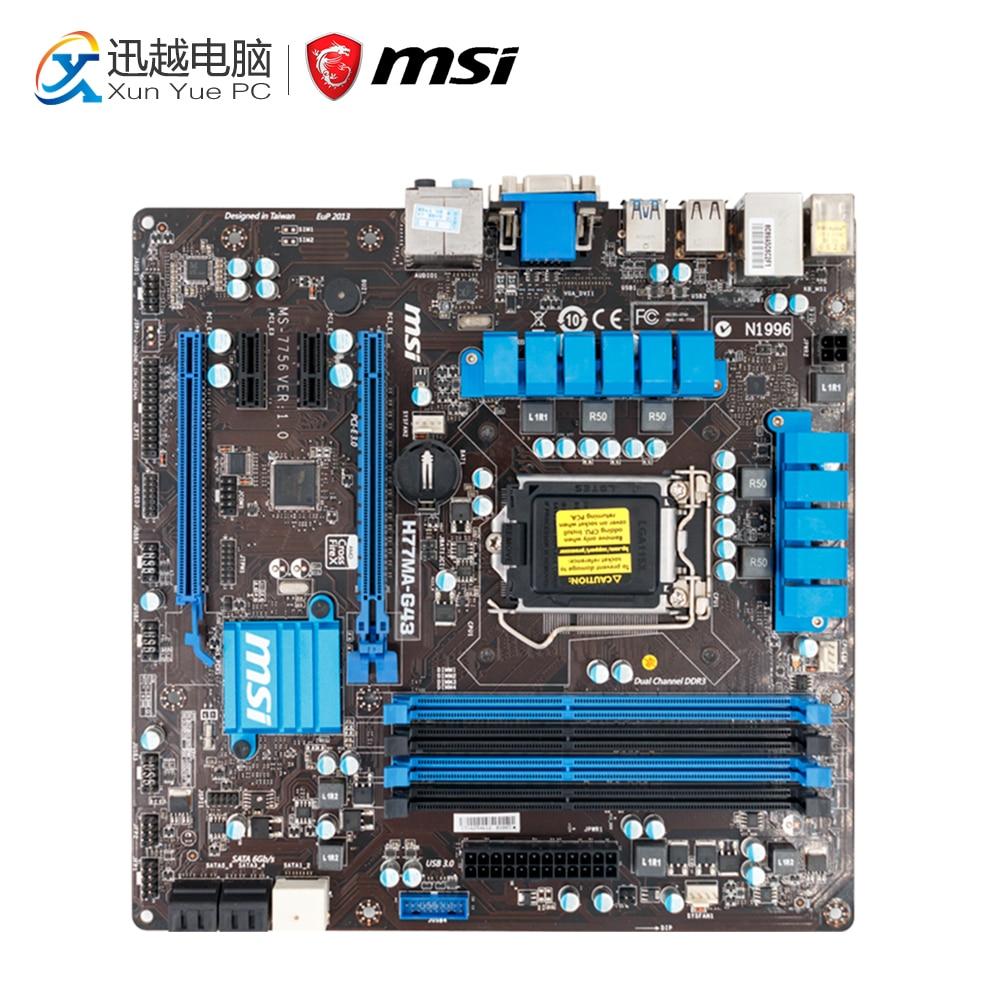 MSI H77MA-G43 Desktop Motherboard H77 Socket LGA 1155 i3 i5 i7 DDR3 32G SATA3 Micro-ATX цена