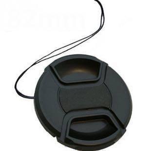 100pcs/lot 49 52 55 58 62 67 72 77 82mm center pinch Snap on cap cover Logo for canon nikon camera Lens