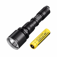 SALE NITECORE MH25GT 1000Lms Tactical CREE XP L HI V3 LED Waterproof Flashlight Outdoor Torch+3400mah Battery+ Holster+USB Cable