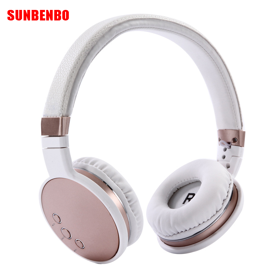SUNBENBO New Wireless Headphones Bluetooth Headsets Earphone With Microphone Support TF Card FM Radio For PC mobile phone