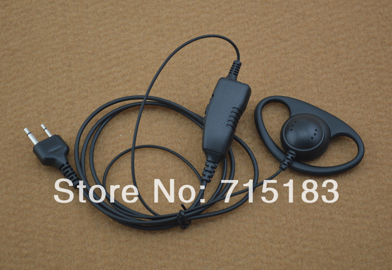 ICOM S/S1 Plug Connctor D-ring 1-Wire Earpiece MIC With PTT (Push To Talk) For ICOM IC-F11 IC-F21 IC-V82 IC-U82 VERTEX VX-200