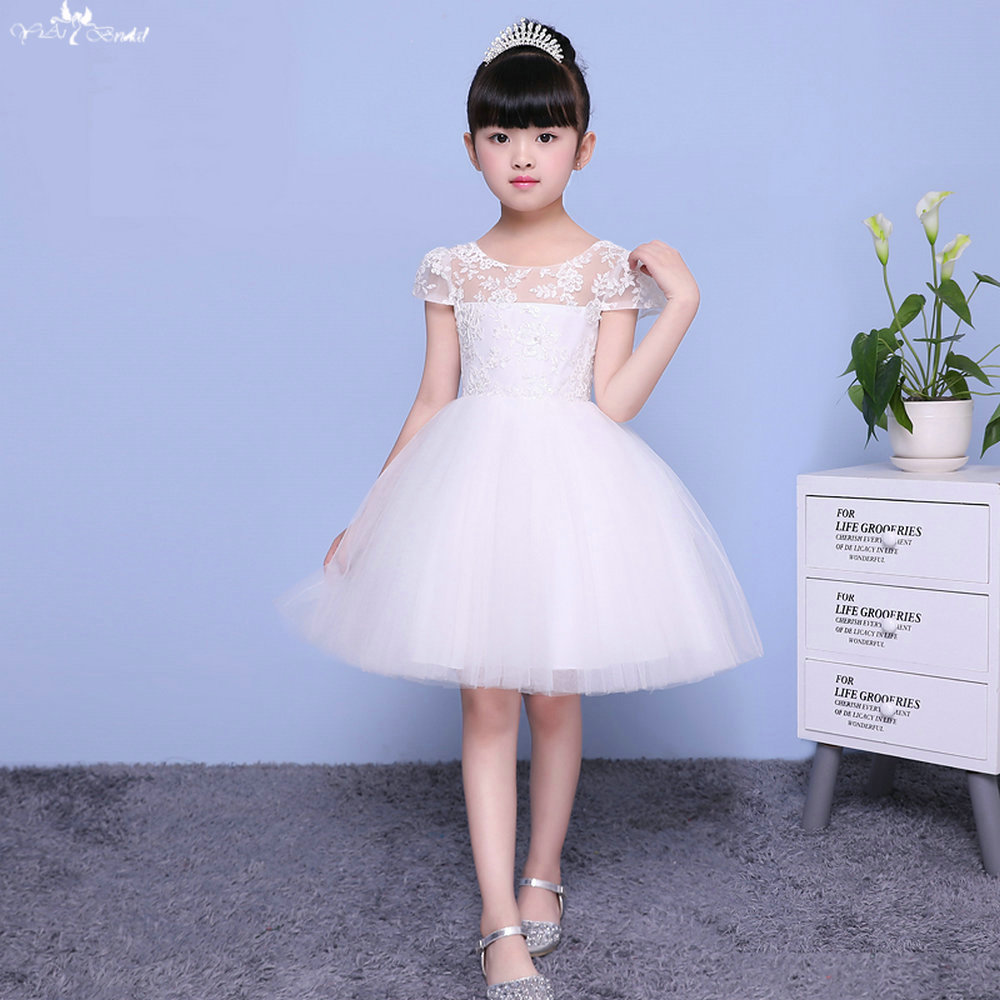 TF001 Ball Gown Cap Sleeve Pink Puffy   Dress   For Kids   Flower     Girl     Dresses