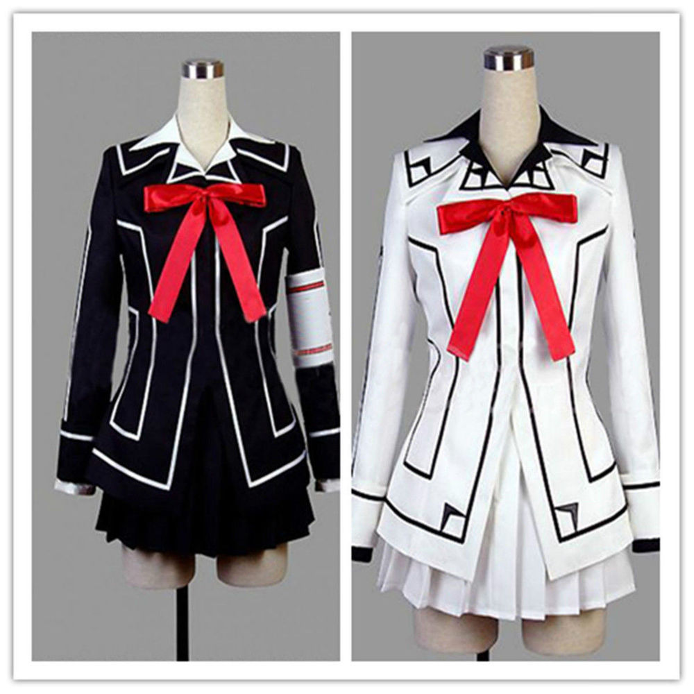 Special sale Vampire Knight Yuki Cross Black or white Dress font b Cosplay b font Costume