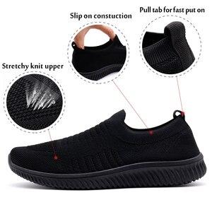 Image 4 - STQ 2020 סתיו נשים מקרית סניקרס דירות נעלי רשת תחרה עד נעלי ספורט Tenis Feminino מוקסין מטפסי אישה שטוח נעלי 003