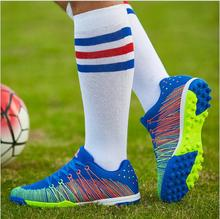 Free Shipping 2017 New Arrival  FG mesh Breathable Cheap Soccer Shoes  for Unisex High Quality Two Colors eur size33-44