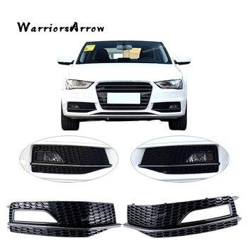 WarriorsArrow пара передний левый правый бампер нижний противотуманный светильник решетка для AUDI A4 S-Line S4 2013 2014 2015 8K0807681M 8K0807682M