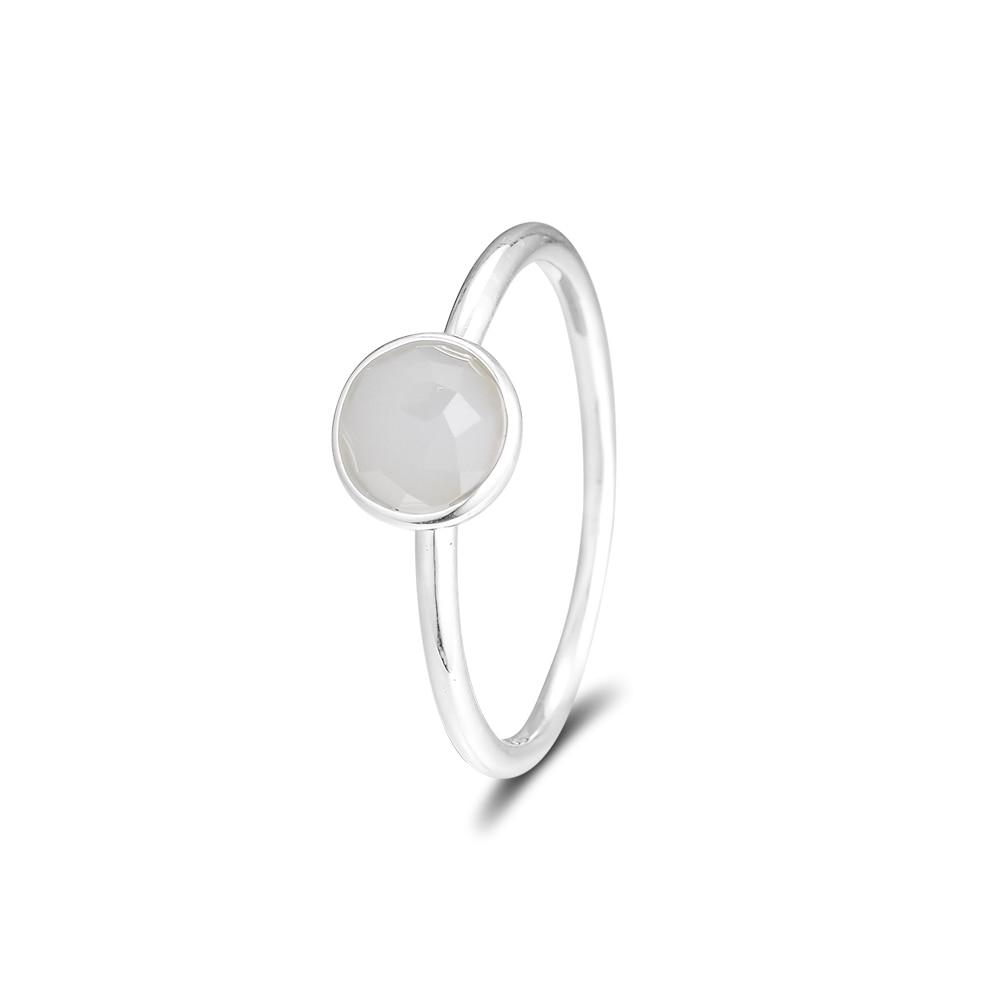 CKK 925 Sterling Silber June Droplet, graue Mondsteinringe für - Edlen Schmuck - Foto 3