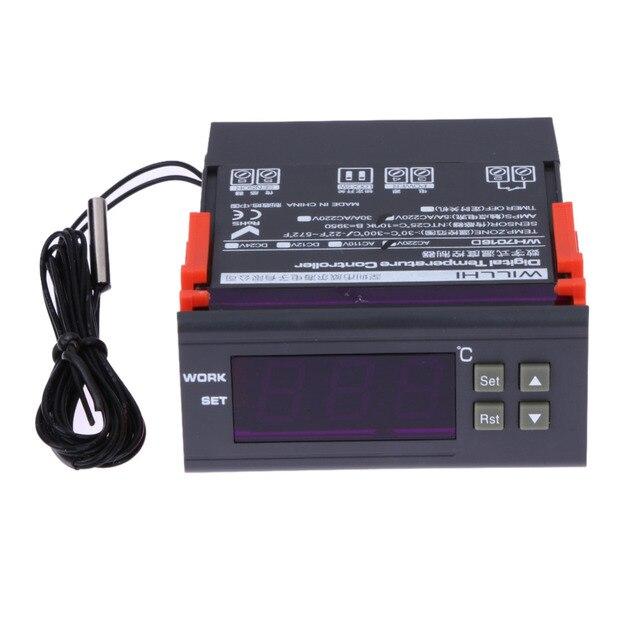220 В Термометр Цифровой Трубки Регулятор Температуры Термостат Тепловой Регулятор С Датчиком-30 ~ 300C Отопление Охлаждения Дополнительно