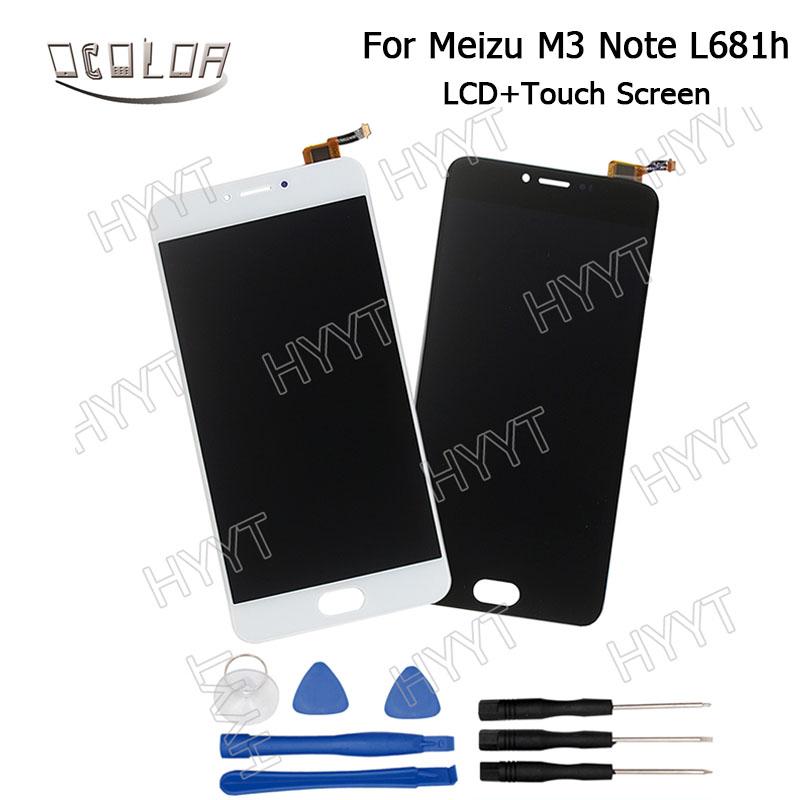 Prix pour Meizu M3 Note L681h Écran LCD Display + Écran Tactile D'origine Digitizer Assemblée + Outils Pour Meizu M3 Note L681 Mobile