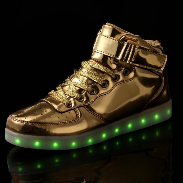 66157f0897af2c STRONGSHEN 25-45 Größe USB Lade Korb Led Kinder Schuhe Mit Licht Up Kinder