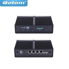 Бесплатная доставка! Безвентиляторный мини ПК Celeron 3205U/Core i3/Core i5, 4 Intel Lan, используется в качестве маршрутизатора/брандмауэра/прокси/точки доступа Wi Fi