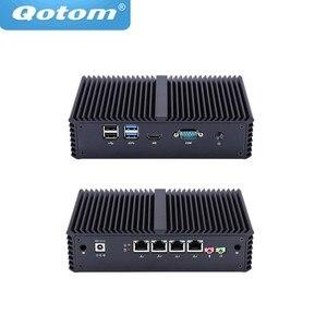 Image 1 - 送料無料! ファンレスミニpcのceleron 3205U/コアi3/コアi5 、 4 インテルlan、ルータとして使用/ファイアウォール/プロキシ/wifiアクセスポイント