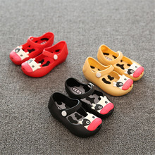 Mini SED girl Sandals Shoes Animal patternFor kids Jelly Sandals Soft Bottom Shoes Baby Girl Shoes Cartoon pop Ngau Tau shoes
