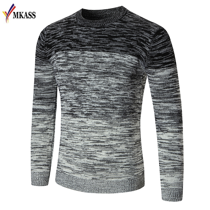 New Autumn Winter Brand Clothing Sweater Men Fashion Trend O-Neck Slim Fit Winter Pullov ...