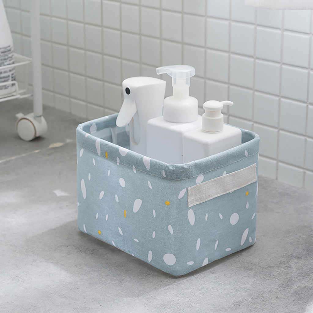 DIY Penyimpanan Desktop Keranjang Kain Pakaian Dalam Mainan Kotak Penyimpanan Kosmetik Linen Desktop Kosmetik Organizer Alat Tulis Laundry Basket