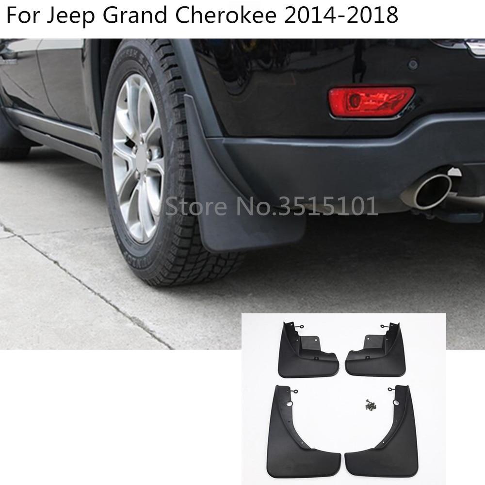 4pcs Car Mud Flaps Splash Guard Mud guard Fender Fit For Jeep Cherokee 2014-2019