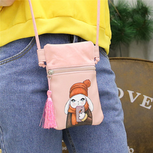 2017 5 Colors Women Mobile Phone Bags Fashion Small Change Purse Female Suede and PU Buckle Shoulder Bags Mini Messenger Bag